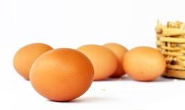02个鸡蛋 免版税库存照片