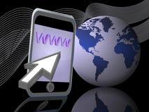 02互联网移动电话 免版税库存图片