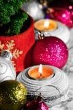 02件圣诞节欢乐心情装饰品 免版税库存图片