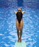 02名潜水的妇女 库存图片