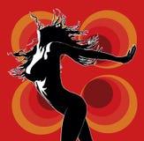 02家俱乐部舞蹈演员红色 库存例证