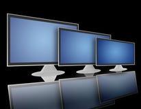 02平面的lcd屏幕电视 库存照片