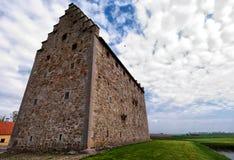 02座城堡glimmingehus全景 库存图片