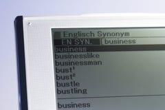 02本词典屏幕 免版税库存照片