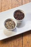 02粒豆咖啡 库存图片