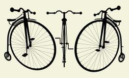 02辆自行车极少量便士向量 向量例证