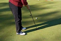 02高尔夫球射击 库存图片