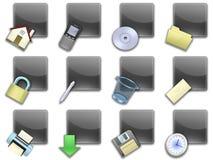 02黑色按钮摆正了万维网 免版税图库摄影
