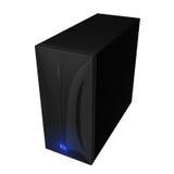 02黑色案件计算机 库存例证