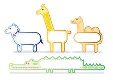 02 αυτοκόλλητες ετικέττες ζώων Διανυσματική απεικόνιση