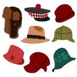 02 μέρη καπέλων που τίθενται Στοκ Εικόνα