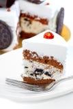 02 σειρές κρέμας μπισκότων κέ&io Στοκ φωτογραφία με δικαίωμα ελεύθερης χρήσης