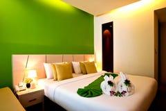 02 σειρές ξενοδοχείων κρεβατοκάμαρων Στοκ φωτογραφίες με δικαίωμα ελεύθερης χρήσης
