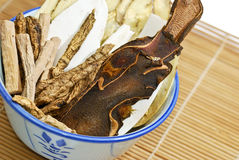 02 σειρές herbals παραδοσιακές Στοκ Φωτογραφία