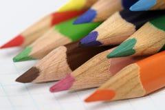 02 χρωματισμένα μολύβια Στοκ εικόνα με δικαίωμα ελεύθερης χρήσης