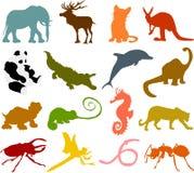 02 животных силуэта Стоковая Фотография
