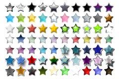 02 звезда 5 иллюстраций Стоковые Изображения