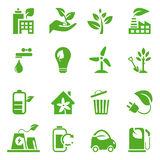 02 идут зеленые установленные иконы Стоковые Изображения