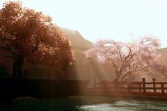 02 сюрреалистского сада японских Стоковые Фото