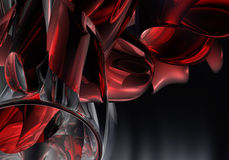 02 трубы chrom красной Стоковая Фотография