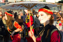02 19 2012年狂欢节葡萄牙sesimbra 库存照片