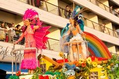 02 19 2012年狂欢节葡萄牙sesimbra 图库摄影