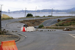 02 27 2010年智利地震 免版税库存照片