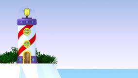 02 3d美妙的灯塔 免版税库存图片