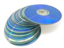 光学02个的光盘 免版税库存图片