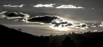 Силуэт 02 долины Стоковое Изображение