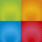 02 bakgrundsradialretro vektor illustrationer