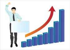 02 biznesmen target1166_1_ jego sukces Obraz Stock