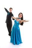 02 blåa dansare l för balsal Royaltyfri Fotografi