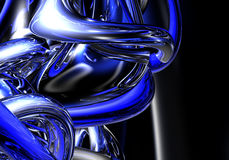 02 blåa trådar Royaltyfri Bild