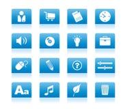 02 blue icon Στοκ Εικόνα