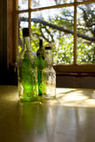 02 butelek szkło stary Zdjęcia Stock