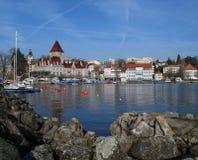 02 chateau d ouchy Lozannie Szwajcarii Zdjęcia Royalty Free