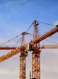02 construction cranes Στοκ φωτογραφία με δικαίωμα ελεύθερης χρήσης