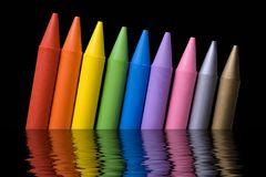 02 crayons Arkivfoto