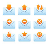02 Envelopes Internet Icons. Professional vector set for your website, application, or presentation. The different graphics are all on separate layers so they Stock Images