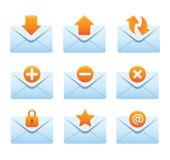 02 Envelopes Internet Icons Stock Images
