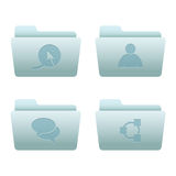 02 Folders Internet Icons. Professional vector set for your website, application, or presentation. The graphics can easily be edited colored individually and be stock illustration
