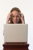 02 gniewna kobieta Zdjęcia Stock