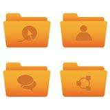 02 icone arancioni del Internet dei dispositivi di piegatura Immagine Stock