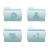 02 icone del Internet dei dispositivi di piegatura Immagini Stock Libere da Diritti