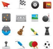 02 icone di intrattenimento Immagine Stock