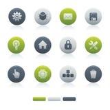 02 icone Mixed del calcolatore del cerchio Immagini Stock