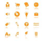 02 ikony pomarańcze Zdjęcie Stock
