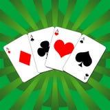 02 karty grać Obrazy Royalty Free