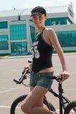02 na rowerze Zdjęcie Stock